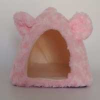 Luxury Pet Kennel Pink Color Dog Bed Soft Puppy Cushion High Quality Cat Bed Pet Dog