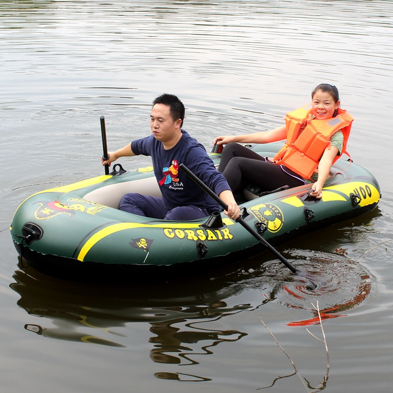 200kg 2 two person kayak special thick rubber inflatable for Rubber boats for fishing