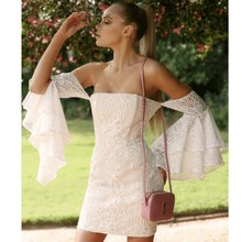 off white lace dress women vestido ukraine clothes party dresses bodycon backless ruffle long sleeve shoulder streetwear