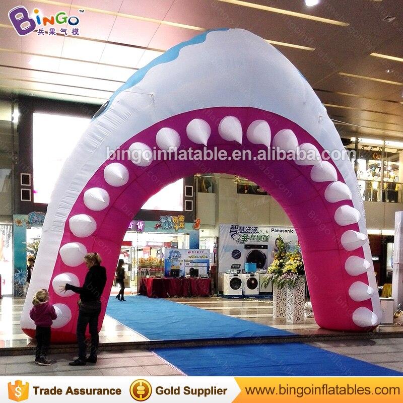 Géant Gonflable Arche Gonflable de Requin Requin Arcade avec Livraison Ventilateur pour Piscine/Partie/Événement/Center Commercial Décoration arches jouets