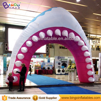 Giant Inflatable Shark Arch Inflatable Shark Archway with Free Fan for Pool/Party/Event/Shopping Mall Decoration Arches toys