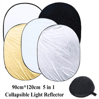 5 In 1 Multi Disc Photography Studio Photo Oval Collapsible Light Reflector 90 X 120cm 35