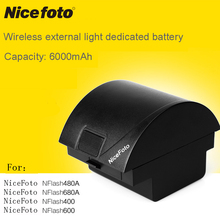 nicefoto outside flashlights TTL680C 680A classic 400 HS600 480A680A HS600TTL480C n6 nflash600 lithium battery