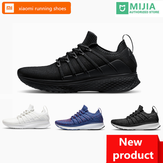 0333a2b0fbeb84 Original Xiaomi Mijia Men Smart Running Shoes 2 Outdoor Sport Mi Sneakers  Breathable Air Mesh Gym Elastic Knitting Vamp Tennis
