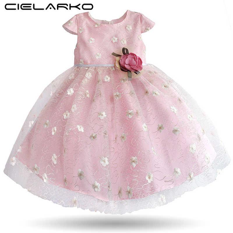 f4ec3a098f4482a Cielarko/вечернее платье для девочек розовый для детей на день рождения  нарядные платья для свадьбы