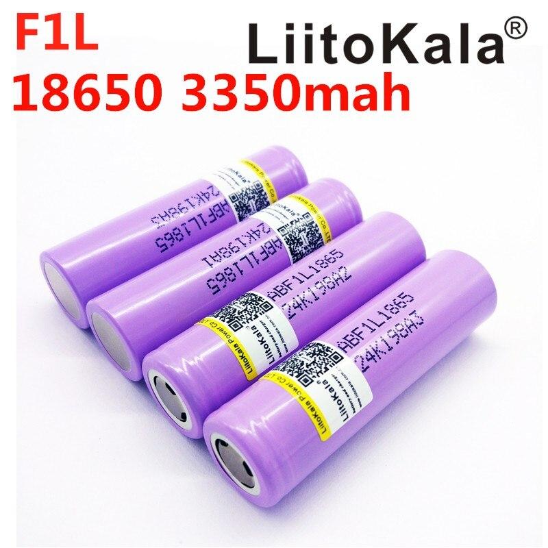 4 шт. liitokala lii-F1L F1L оригинальные 3,6 V 18650 INR18650 3350 mAh перезаряжаемые батареи 4,2 V Cut