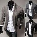 Мужчины в свободного покроя выращивание чистый кардиган свитер