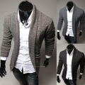2014 new men's fashion leisure casual cultivation of pure cardigan sweater
