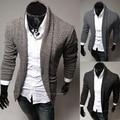 2014 nuevos hombres de ocio de moda ocasional cultivo de chaqueta de punto pura