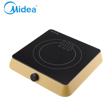 Midea mini induction cooker Yellow,220v-240v ABS plastic EU plug waterproof function induction plate for travel electric cooktop