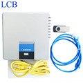 Frete Grátis! desbloqueado Linksys SPA400 Internet 4 Portas FXO Voicemail PBX IP VoIP Adaptador de Telefone