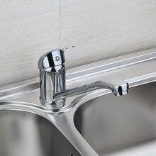Современные Превосходное качество смеситель современной хромированной керамические пластины Катушка горячей и холодной воды смеситель для кухни