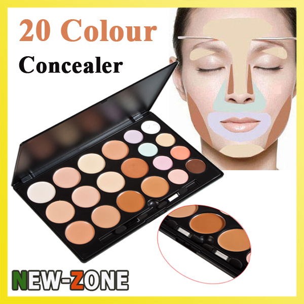 Professional 20 Colour Concealer Face Contour Flawless Camouflage Cream Makeup Palette Cosmetic Kit image