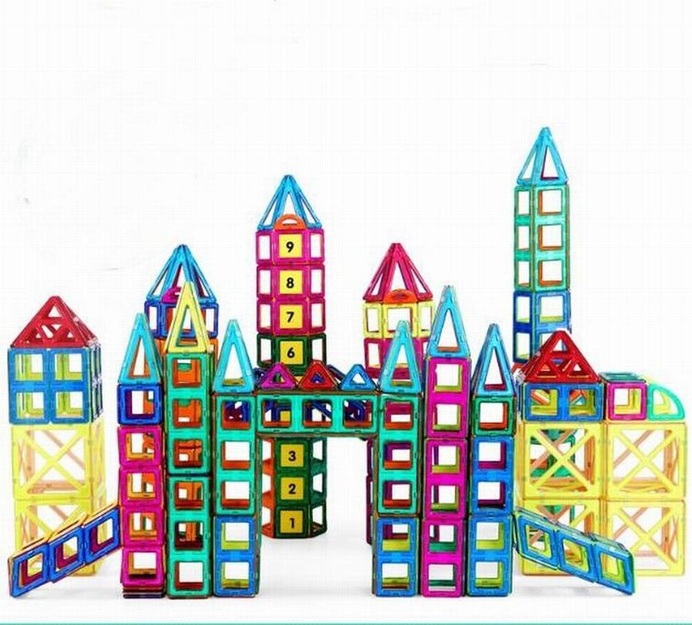 148PCS/Set Standard Magnetic Designer Toys Construction Building Blocks 3D Educational DIY Magnet Bricks For Kids Children Toy 62pcs set magnetic building block 3d blocks diy kids toys educational model building kits magnetic bricks toy