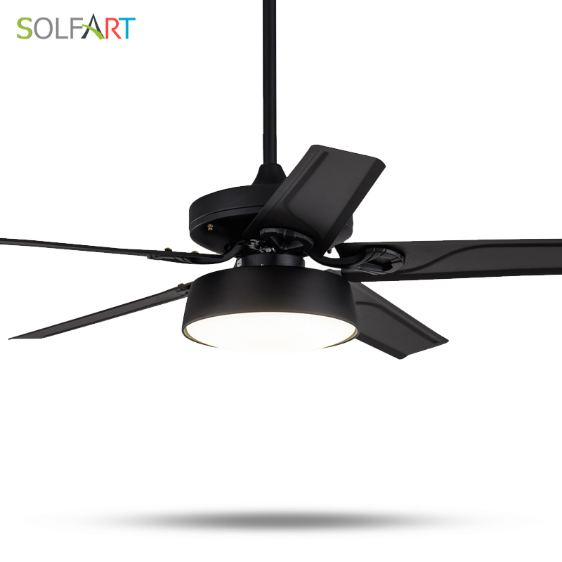 SOLFART ceiling fans lamp modern fan light mute natural wind ce ul led lamps wood or