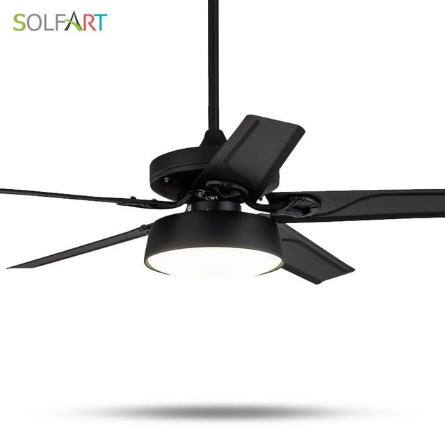 SOLFART מאווררי תקרה מודרני מנורת מאוורר אילם אור טבעי רוח ce ul מנורות led עץ או ברזל שחור לבן מתכת ביריות SLF9008