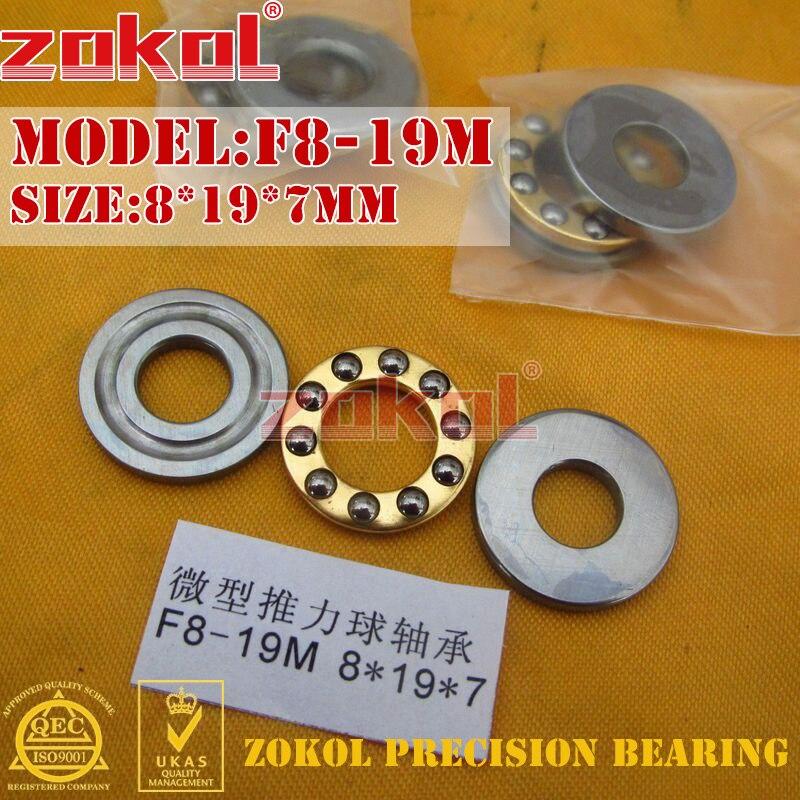 ZOKOL F8-19 M bearing F8-19M Miniature Thrust Ball Bearing 8*19*7mm
