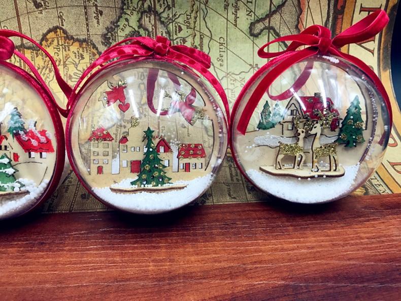 2 Pieces Mix 6cm Clear Plastic Christmas Balls Wedding Birthday