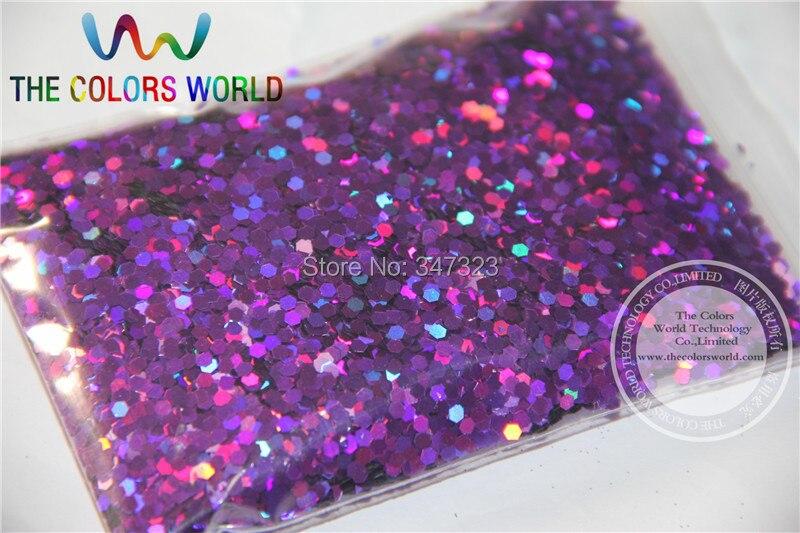 2 мм голографические фиолетовые цветные блестки разбрызгивающие Блестки для дизайна ногтей и других аксессуаров DIY