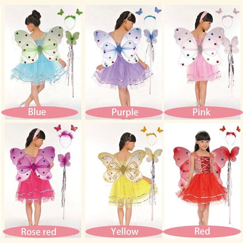 Gyerekek Halloween jelmez pillangó tündér szoknya színes tánc - Jelmezek - Fénykép 2