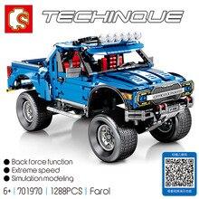 Sembo 701970 Совместимость Legoing Новый техника серии F-150 Raptor модель машины пикап строительные блоки Набор Классическая техника серии