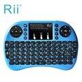 2.4G Rii Mini i8 sem fio + Multifunções Retroiluminado Hebraico Teclado com mouse Touchpad para Smart TV, Android TV, caixa, PC HTPC PS3