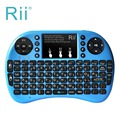 2.4G rii Mini i8 + Multifunción Retroiluminado Hebreo Teclado con ratón Touchpad para Smart TV, Android TV, caja, PC HTPC PS3