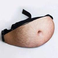 Popular Facebook Dad Bag Dad Bod Waist Bags Universal Flesh Colored Beer Fat Belly Fanny Pack