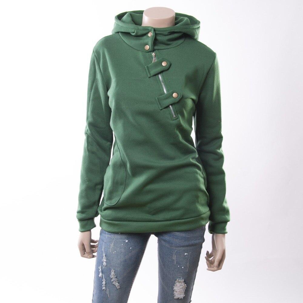 Nouveau 2016 corée sweat à capuche pour femme manteau chaud Zip Up survêtement Sweatshirts 5 couleurs expédition rapide Feminino hiver manteau Camisolas