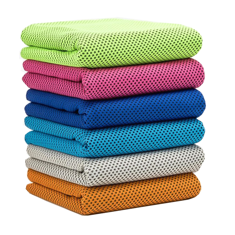 Sweat Towels Sign: 88X33cm Breathable Polyester Reusable Towel Summer Quick