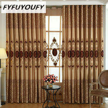 Фотография FYFUYOUFY  Europe Luxury Embroidered Jacquard Window Curtains for Living Room Kitchen Blackout Curtain French Window Treatments