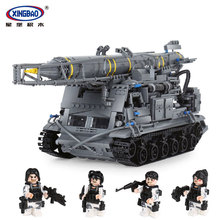 Xingbao 06005 Military Series 1750Pcs The 8U218 TEL 8K11 Set Building Blocks Bricks Children Educational Boy`s Toys Model Gifts lepin 05084 series wars snowspeeder self lock building blocks bricks educational boy toys model gifts legoinglys 10129