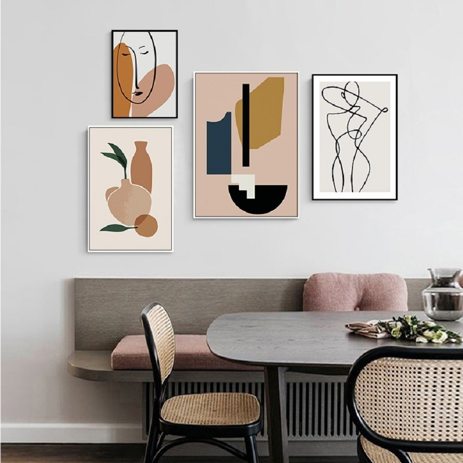 Scandinavia Nordic Geometric Abstract Figure Canvas Painting Posters Prints Wall Art POP Pictures for Living Room Home Decor interior design
