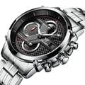 CADISEN Military Sport Quartz Watch Men Luxury Brand Casual Watches Men's Wristwatch army Clock full steel relogio masculino 201