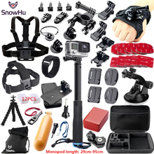 SnowHu For Gopro Accessories for gopro accessories set for gopro hero 5 hero 4 3 kit for Xiaomi Camera sjcam accessories GS38