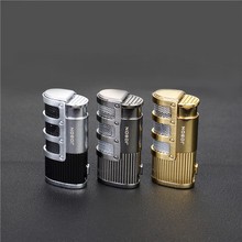 Metal Torch Turbo Lighter Electronic Lighters gas Butane Spray Gun Cigar Cigarettes Smoking Accessories