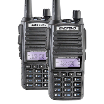 Free Shipping Original 2PCS/LOT Baofeng UV-82 Two Way Radio 5W Dual Band Walkie Talkie UV82