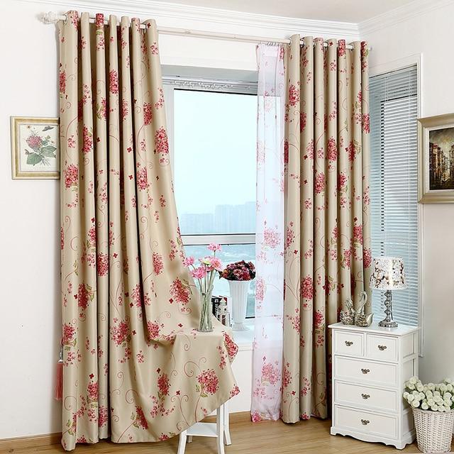 amerikaanse stijl gedrukt rode plant verduisteringsgordijnen decoratie gordijnen woonkamer doek gordijn custom slaapkamer gordijnen