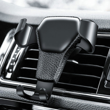 Gravity Auto Phone Holder For Phone in Car Air Vent Clip Mount No Magnetic Mobile Phone Holder Cell Stand Support For iPhone GPS sailnovo y shaped car phone holder air ventilation grille gravity mobile phone holder auto mount stand for general mobile phone