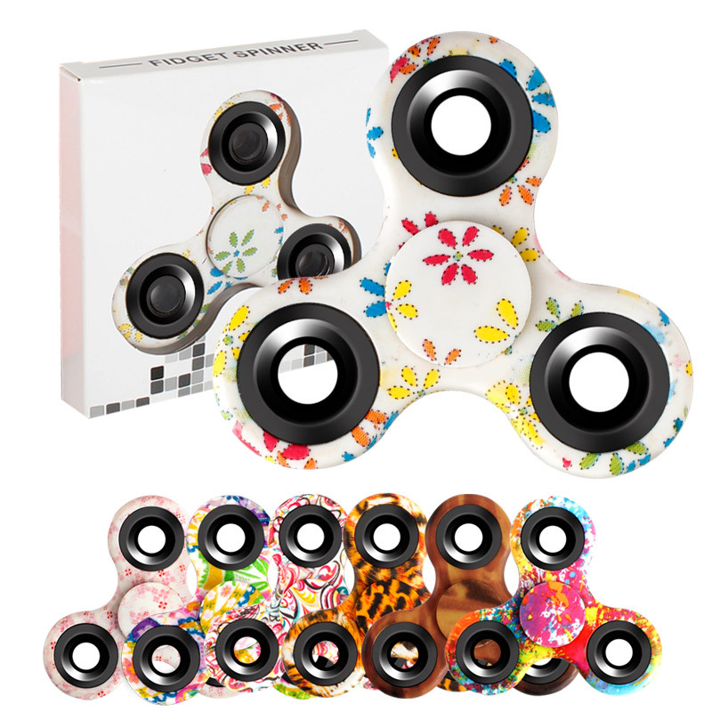 2017 New Colorful Tri Spinner Fidget Toy EDC HandSpinner Anti Stress Reliever And ADAD Hand Spinners