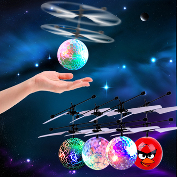 Electric RC Flying Ball Infrared Induction Aircraft LED Flash Light Kid's Flight Balls Remote Control  Helicopters Toys