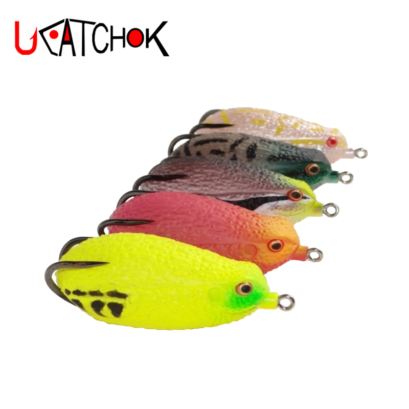 2017 UCOK 10pcs/pack 7.1cm 26g big frog lure with big triple high carbon strong hooks for freshwater black fish thunder game