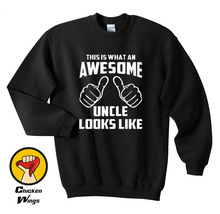 Awesome Uncle Sweatshirt Birthday Gift Idea Niece Nephew Holiday Crewneck Top More Size and Colors-A370