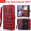 Luxury Crocodile Skin Pu Leather Conque For Samsung Galaxy A5 2017 3D Alligator Wallet Flip Cover