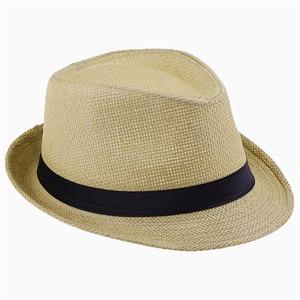 Хит модных продаж унисекс Fedora Мужская Гангстерская шляпа Кепка для женщин Летняя Пляжная шляпа соломенная шляпа-Панама мужские модные крутые шляпы розничная - Цвет: Yellow Straw