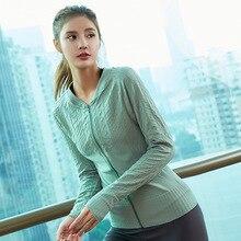 women yoga shirts ealstic quickly dry long sleeve zip up jacket sweatshirts sport top running jogging casual fitness gym shirt