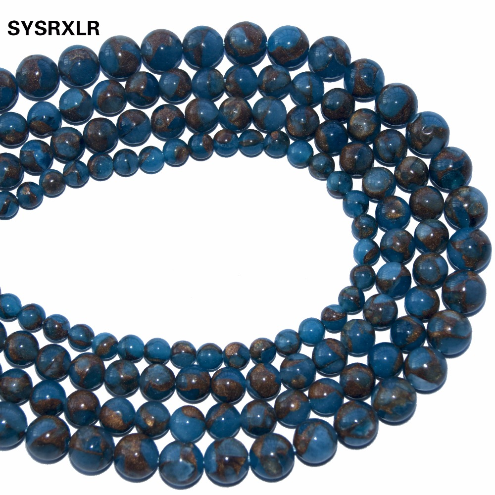 Pcs Frosted  Gemstones DIY Jewellery Making Sodalite Round Beads 10mm Blue 35