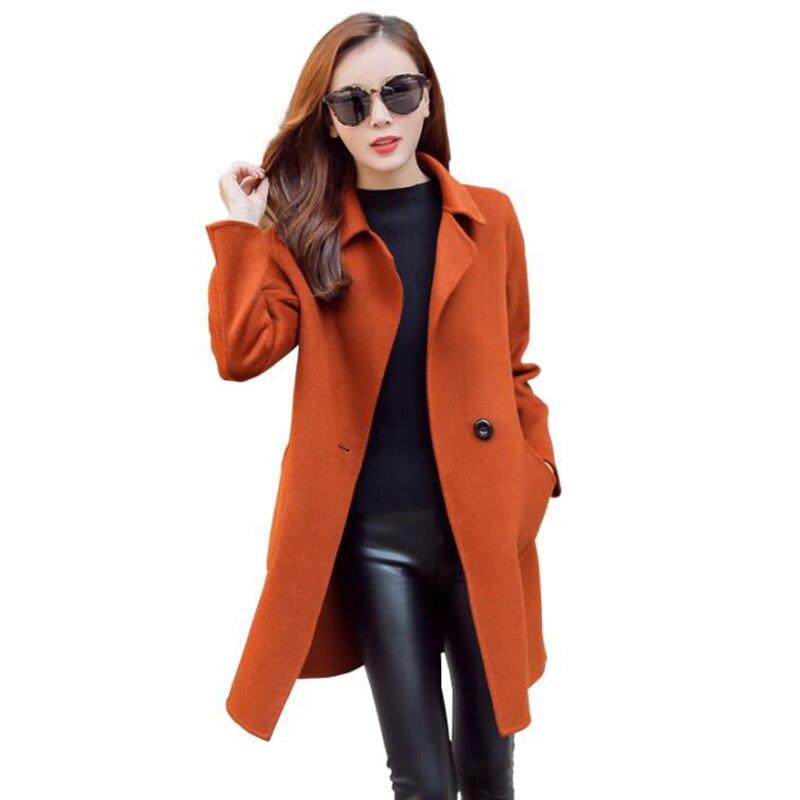 2018 Осень Зима Новый Плюс Размер Двусторонняя шерстяное пальто куртка Модные женские высокие раздел двусторонний кашемир пальто