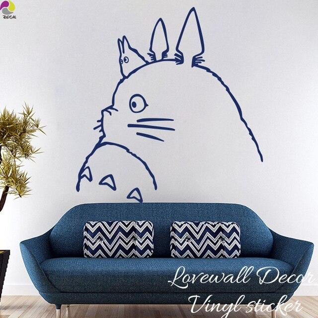 Cartoon My Neighbor Totoro Wall Sticker Kids Room Spirited Away Chihiro U0026  Haku Cat Animal Decal