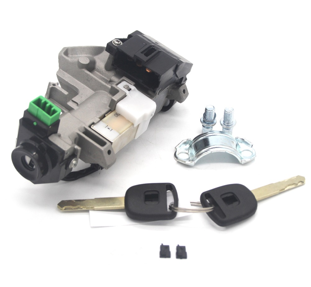 Ignition Switch Cylinder Lock with Trans chip keys for 03 11 Honda Accord CRV Fit Civic